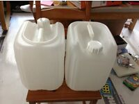 15 litre plastic containers - market stands - x2