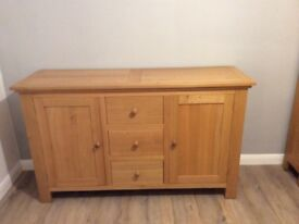 light oak sideboard in good condition