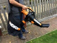 Virtually as new Worx all in one blower/vac/mulcher WG500E