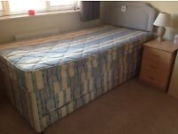 Kozee Sleep single bed with guest bed under plus headboard