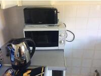 Kettle toaster and microwave