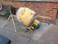 Belle minimix 130 cement mixer with stand