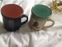 Set of 2 tea mugs