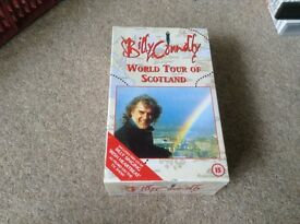 1 video box set with 2 videos in Billy Connelly world tour of scotland