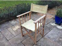Foldout canvas chair