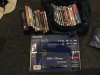Panasonic DVD Player S48 With Box Set DVD's Bourne Rocky Cruise TSCC Miami Vice Gladiator etc
