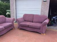 2x2 seater fabric sofas very clean condion pet & smoke free home