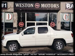 2009 Honda Ridgeline VP *4WD *AUTO *SPORT WHEELS *ACCIDENT FREE