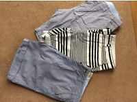 Three pairs of button up shorts