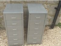 2 Metal 6 Drawer filing Cabinets ideal for Garage or Workshop