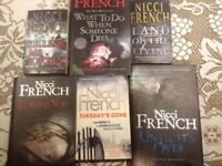 Nicci French - 5 books (3 x hard back 2 x paper back)