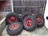 General grabber mud terrain 235 85r16 on landrover steel wheels