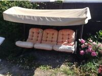 SWING HAMMOCK THREE SEATER SEAT. STRONG CONSTRUCTION. FROM STEWARTS GARDEN CENTRE.