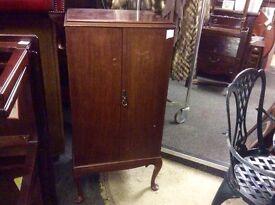 Vintage mahogany music cupboard