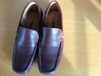 Men's casual brown slip on shoes