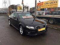 Audi A4 Sline 2.0 tdi diesel 143 bhp 2010 2 owners fsh full year mot mint car fully serviced may px