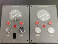 Pair of Control Panels for Twin Engine Boat