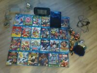 Nintendo wii u with games 23 games included