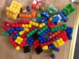 Mega Block Trucks with Lots of Blocks (Toys, Lego, Minion, Peppa Pig, Barbie, Disney)