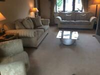Bargain wade suite ( 2 sofa/settees and chair), used for sale  Huddersfield, West Yorkshire