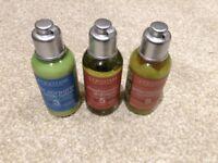 Brand New L'Occitane Set-50ml Shampoo, 50ml Conditioner, 50ml Body Lotion
