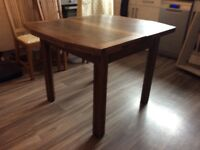 Lovely extending antique family dining table, solid oak