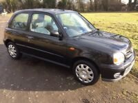 Nissan micra 18.000 miles history metallic black 2003 outstanding condition