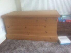 Solid pine chest / storage box