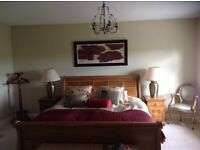 Matching bedroom interior items, originally purchased from reputable interior design shop.