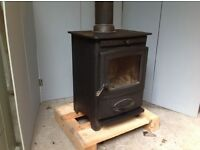 Wood burning stove. Aarrow Ecoburn 5kw output multi-fuel log burner. Ideal for snug or studio. £270