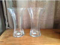 Two glass vases from homebase