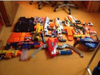 Large Bundle of Nerf Guns and Bullets