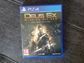 PS4 game deus ex mankind divided day one edition