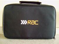Black Waterproof Zipped Multi Purpose Case~Bag RAC Logo On Front Ideal For Resale At Only £1.Each