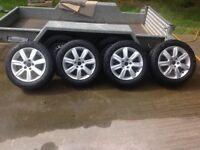 """VW Polo alloy wheels and tyres 15"""" Castille"""