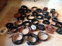 Job lot of men's belts 30 plus