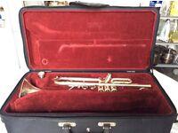 Besson silver trumpet
