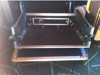 "flight case for 19"" rack mount mixer/amp/cd"