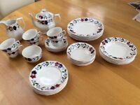 Vintage Tea/Dinner set by ADAMS in OLD COLONIAL Design
