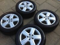 4 VW TRANSPORTER ALLOYS AND TYRES