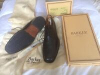 Barker's very smart men's black lace-up shoes. Size 9 G width fitting.