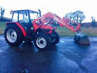 Case international 4230 L cab.4WD.with chilton loader and bucket