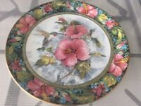 """Royal doulton """" the imperial hummingbird """" plate"""