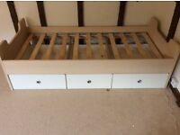 Bed base with 3 drawers