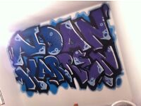 graffiti artist paints walls/bedrooms for kids