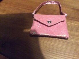 Build a bear - wee pink hand bag