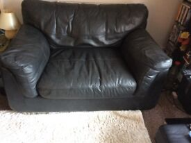Custom Made 2 Seater Leather Sofa