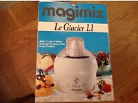 Ice cream maker & recipe book for homemade ice cream included