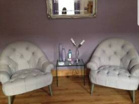 Two Stylish Arm Chairs