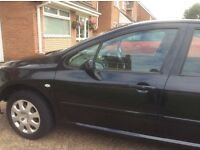 Peugeot 307 with 1year MOT
